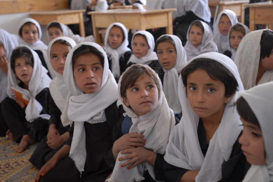 Niñas en un colegio de Afganistán