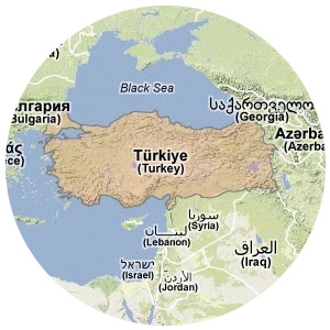 Mapa de Turquía.