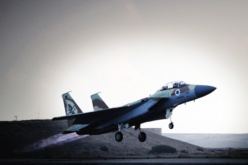 F-15 de la Fuerza Aérea de Israel.