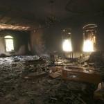 Ruinas de la legación norteamericana en Bengasi.