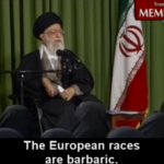 """Alí Jamenei previene a las mujeres de negro contra """"las bárbaras razas europeas"""""""