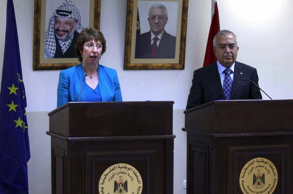 Catherine Ashton y Salam Fayyad