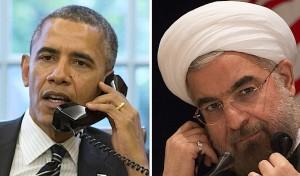Barack Obama y Hasán Ruhaní.
