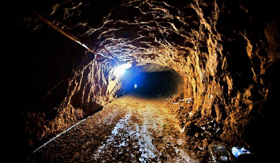 Túnel de contrabando entre Gaza y Egipto