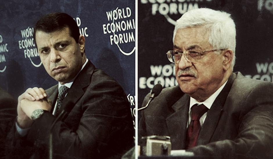 Mahmud Abás y Mohamed Dahlan