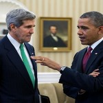 John Kerry y Barack Obama.