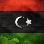 Bandera libia.