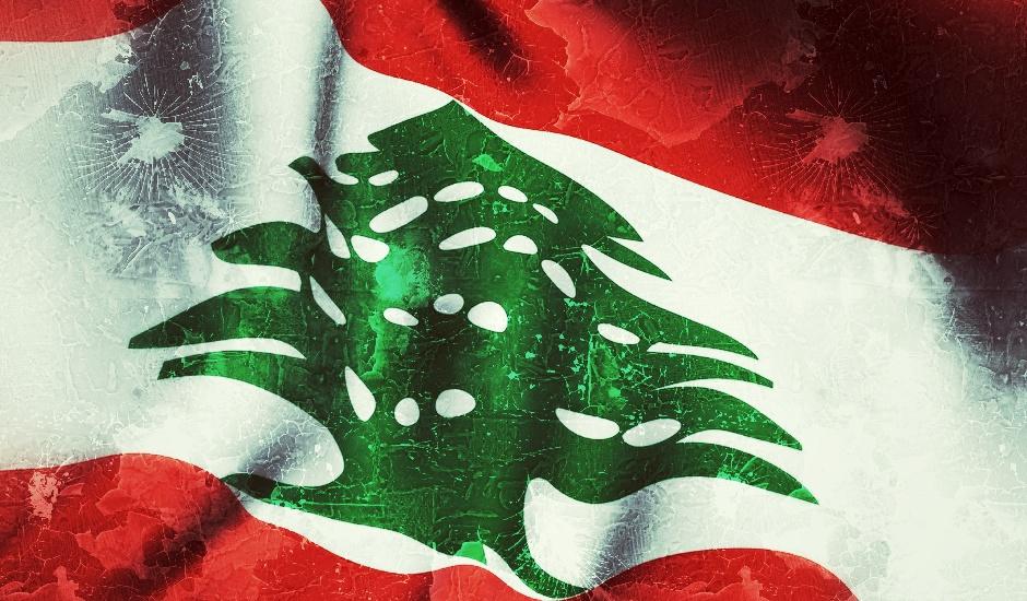 Bandera del Líbano.