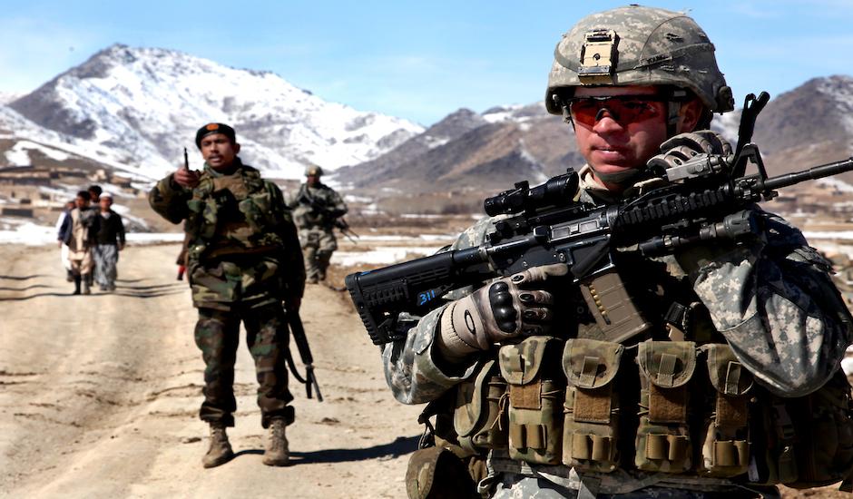 Militares norteamericanos desplegados en Afganistán.