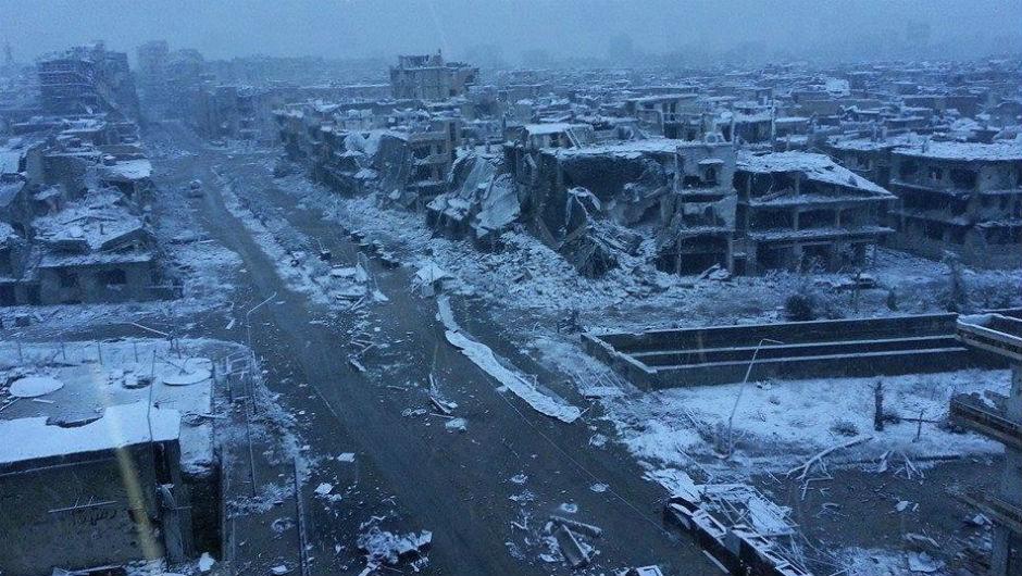 Homs, Siria, invierno de 2013.