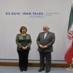 Catherine Ashton y Mohamed Zarif