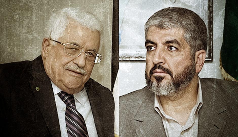 Mahmud Abás y Jaled Meshal