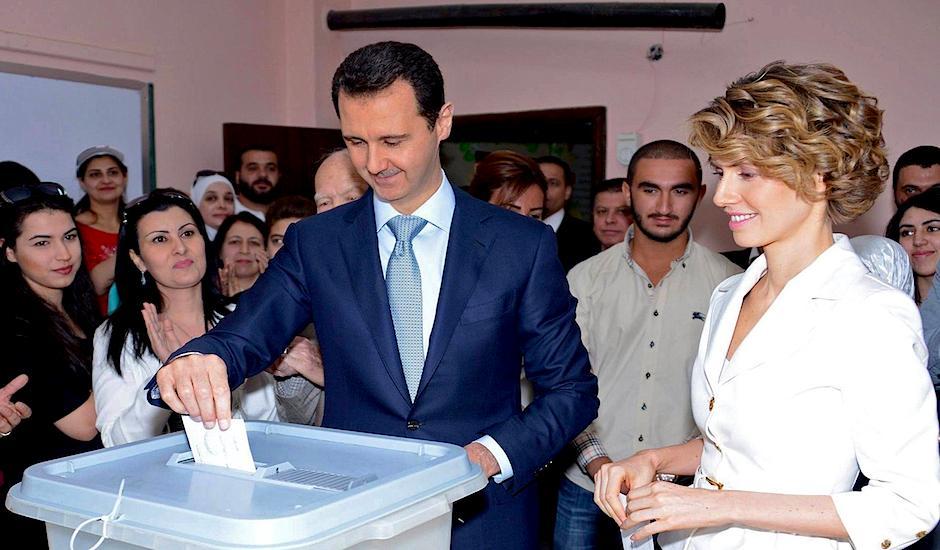 asad siria elecciones