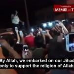 Terroristas del Estado Islámico tomando Mosul en junio de 2014.