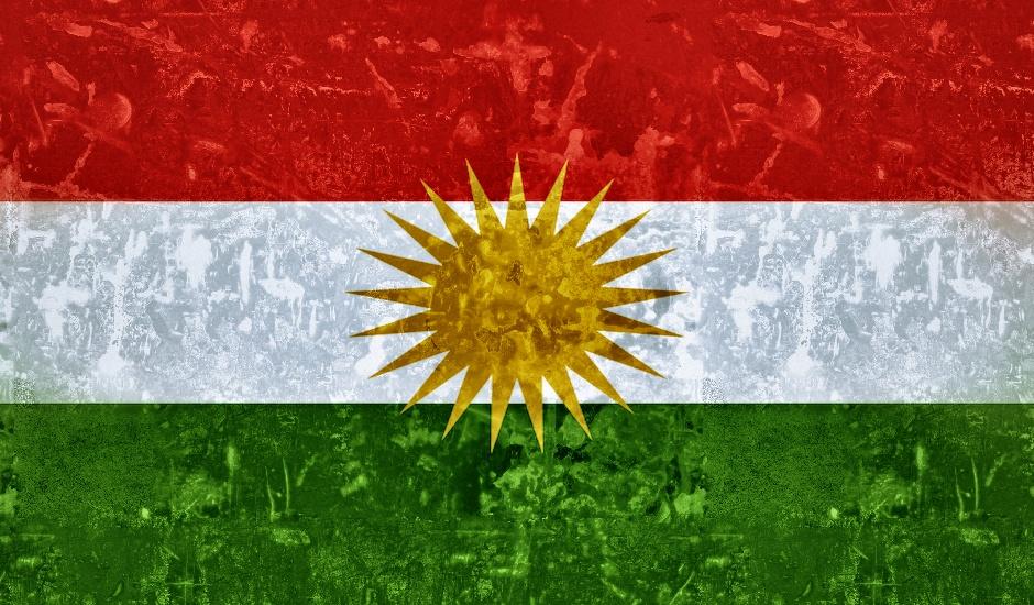 Bandera del Estado independiente de los kurdos