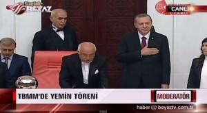 Recep Tayyip Erdogan, en su toma de posesión como presidente de Turquía (28 AGO 14).