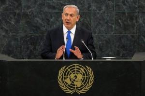 Benjamín Netanyahu, ante la Asamblea General de las Naciones Unidas.