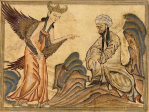 Mahoma y el arcángel Gabriel.
