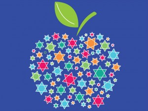 Manzana de Rosh Hashaná.