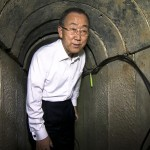 Ban Ki Moon, bajo tierra