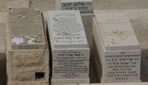 Cementerío judío en Jerusalén