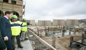 Construcciones en la ciudad palestina de Rawabi