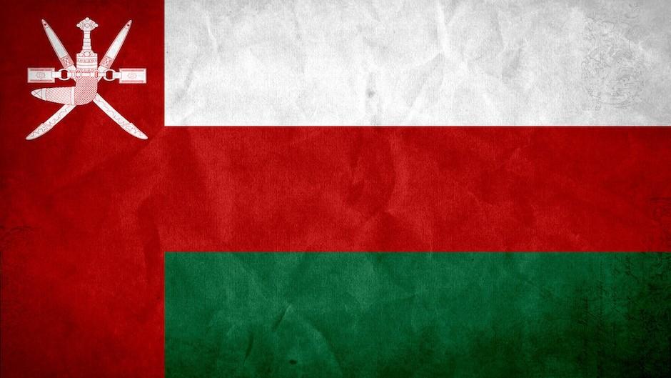 Bandera de Omán.