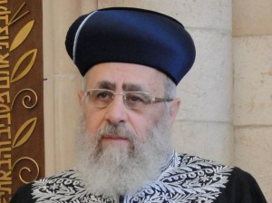 El gran rabino sefardí, Isaac Yosef.