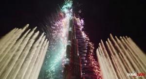 Dubái. Fuegos artificiales de  2013-2014.