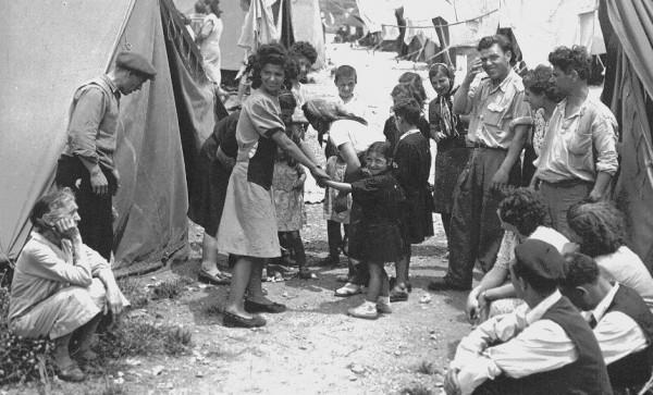 Refugiados judíos de países árabes.