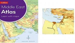 Atlas de Oriente Medio que omite a Israel