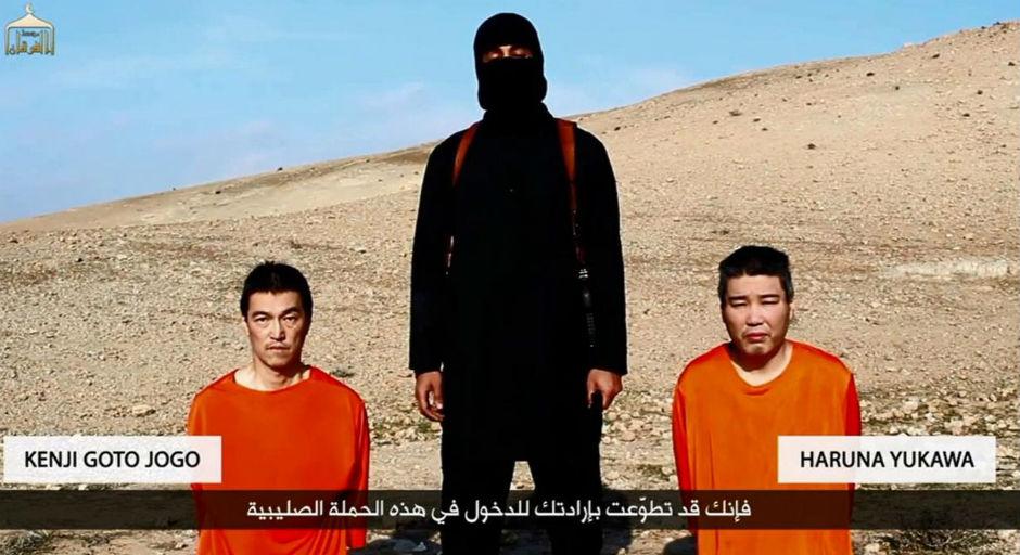Rehenes japoneses del Estado Islámico.