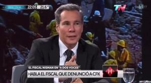El fiscal Nisman, en TN.