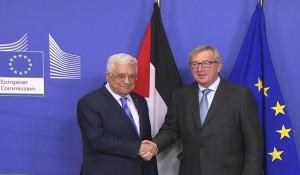 Mahmud Abás y Jean Claude Juncker