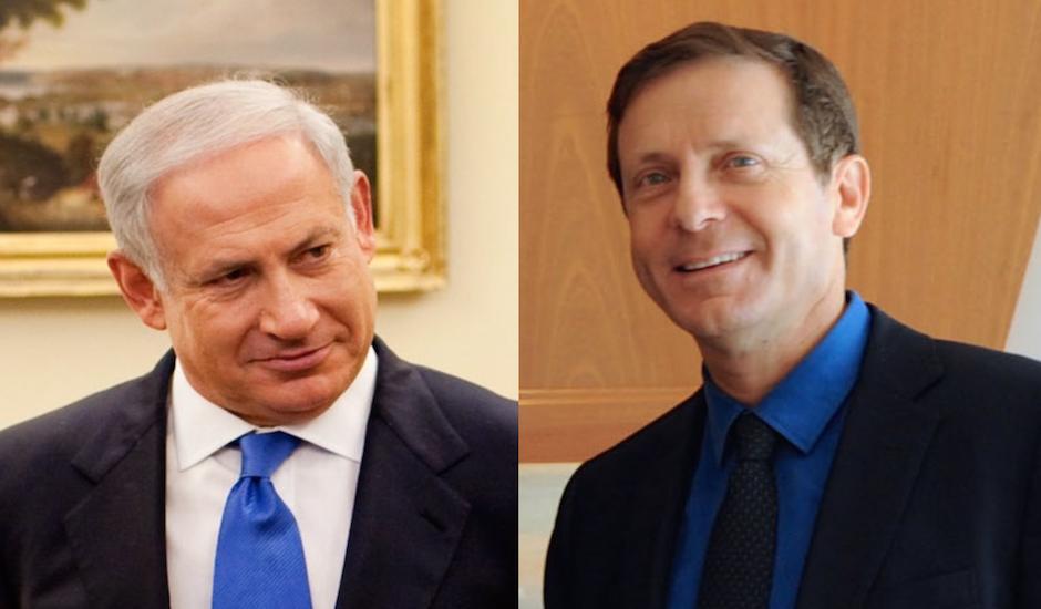 Benjamín Netanyahu e Isaac Herzog