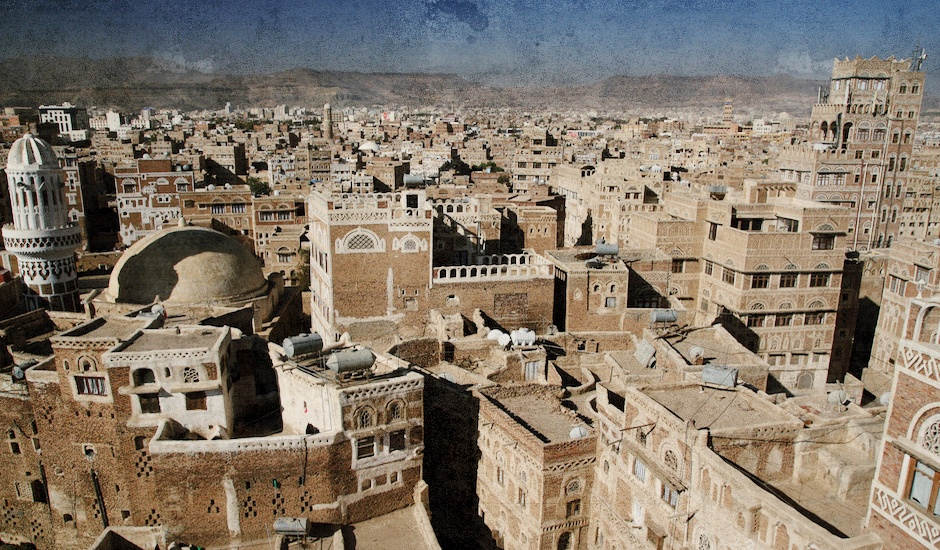 Vista de Sana, capital del Yemen