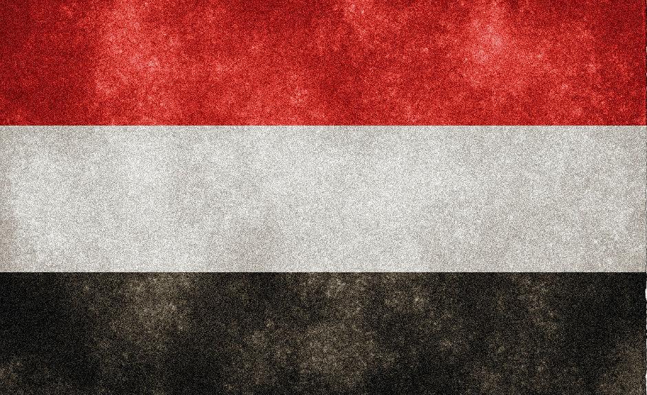 Bandera del Yemen.