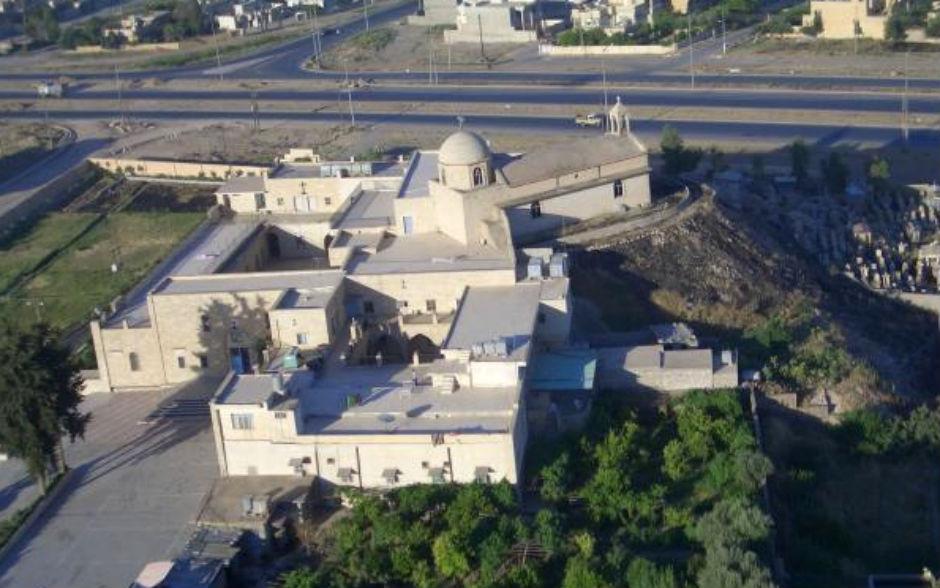 El Monasterio de San Jorge, en Mosul, devastado por el Estado Islámico.