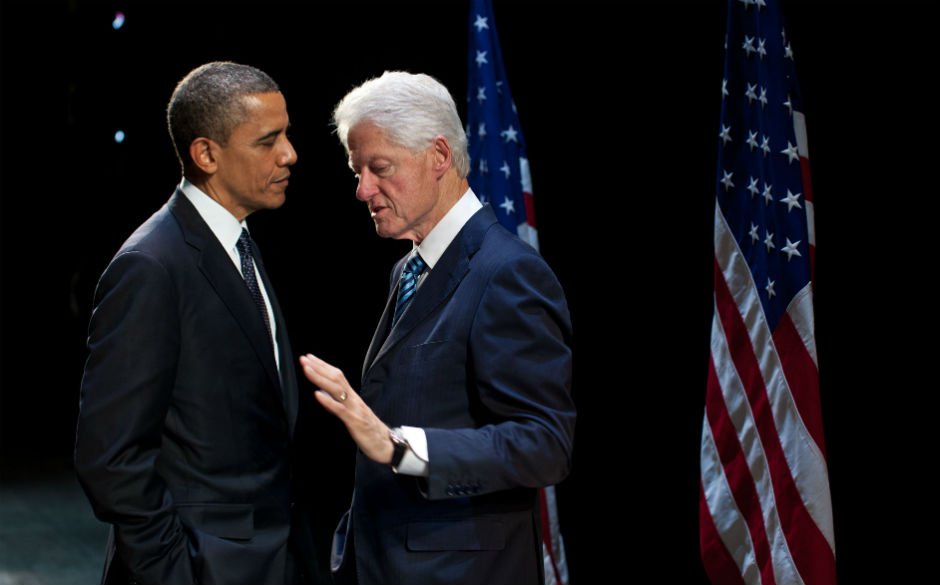 Barack Obama y Bill Clinton.