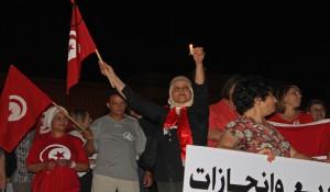 Manifestación contra el terrorismo en Túnez