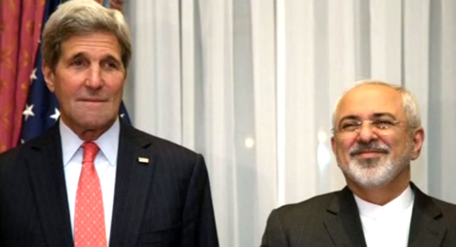 John Kerry y Javad Zarif.