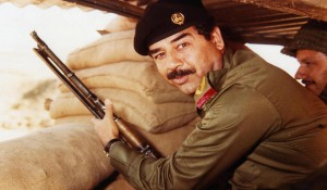 El presidente de Irak Sadam Husein