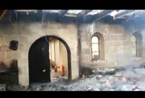 La Iglesia de los Panes y los Peces, víctima de un incendio provocado.