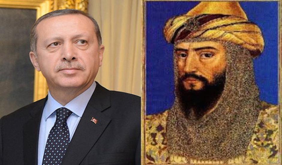 Recep Tayyip Erdogan y Saladino