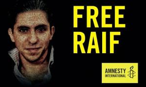 Campaña de Amnistía Internacional en favor del activista liberal saudí Raíf Badawi.