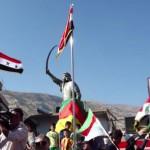 Manifestación contra el genocidio druso en Siria