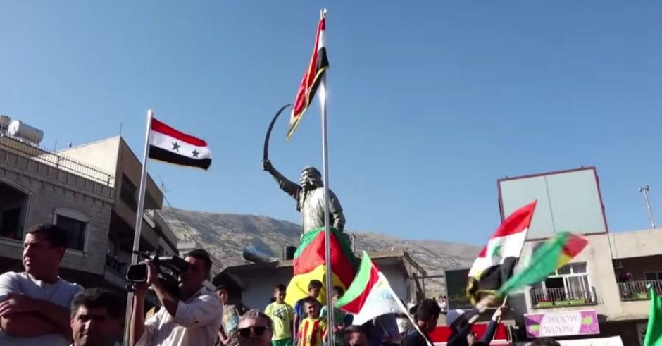 Manifestación contra el genocidio druso en los Altos del Golán, 15 JUN 15.