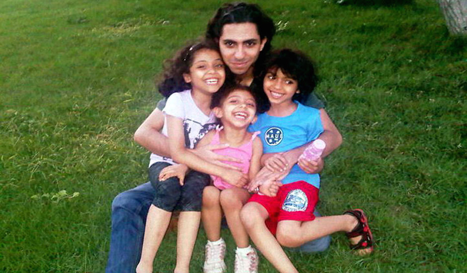 raif badawi y sus hijos