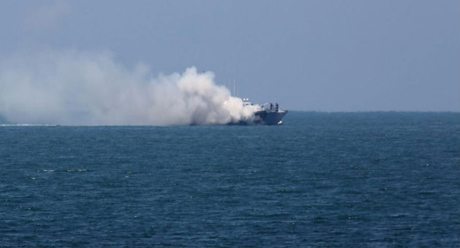 Fragata egipcia atacada por el Estado Islámico (julio de 2015).