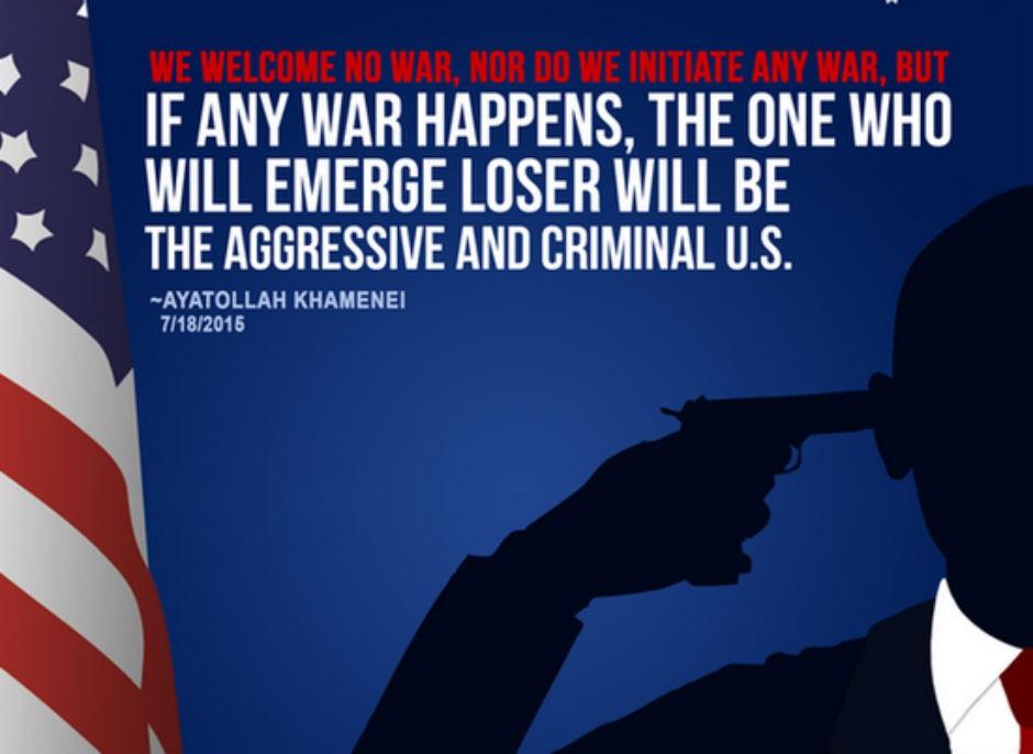 Alí Jamenei, fustigando de nuevo a EEUU.